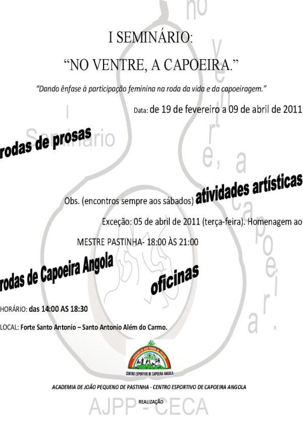 Portal Capoeira I SEMINÁRIO:  NO VENTRE, A CAPOEIRA Capoeira Mulheres