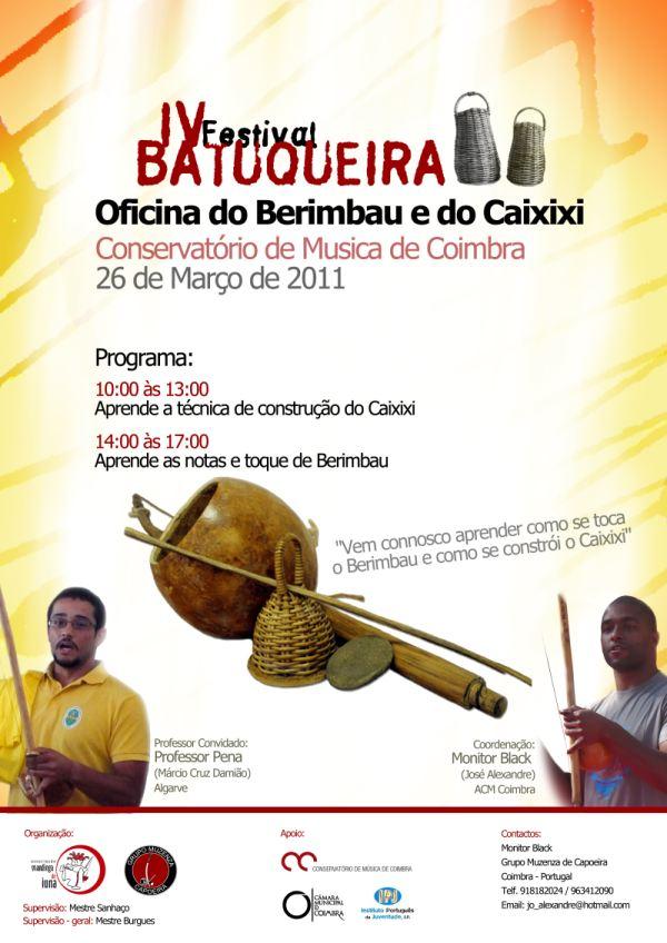Portal Capoeira IV FESTIVAL BATUQUEIRA Eventos - Agenda
