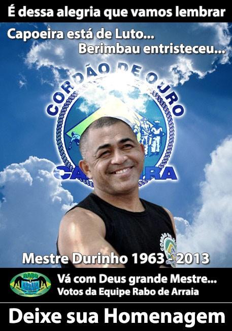Portal Capoeira Nota de Falecimento - Mestre Durinho CDO Notícias - Atualidades