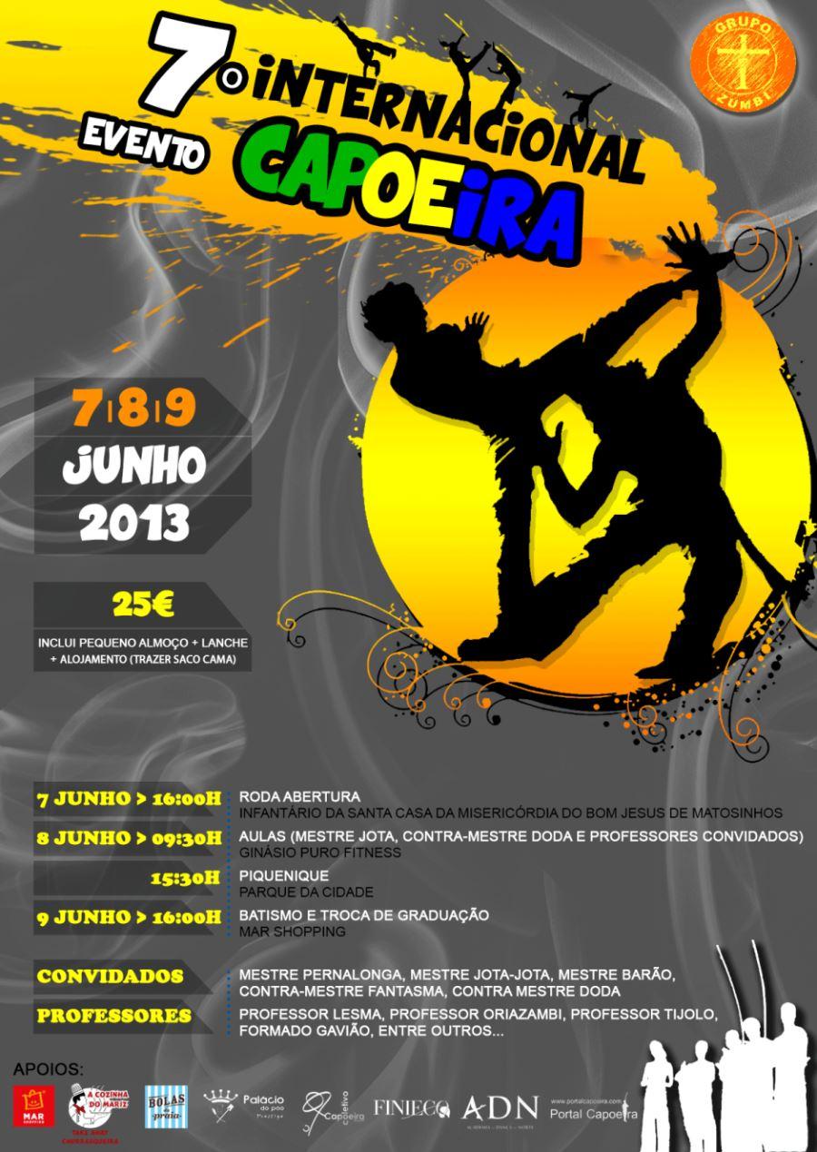 Portal Capoeira Porto: 7° Evento Interrnacional de Capoeira Grupo Zumbi Portugal Eventos - Agenda