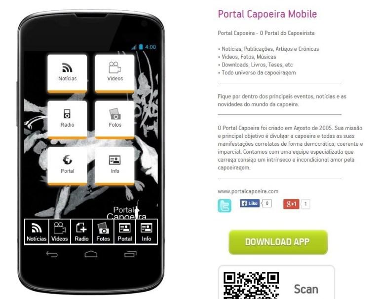 Aplicativo: Portal Capoeira Mobile