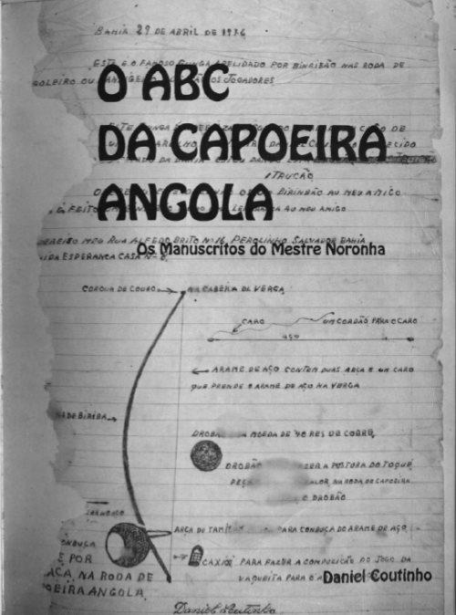 O ABC da Capoeira Angola - Manuscritos de Mestre Noronha  Portal Capoeira