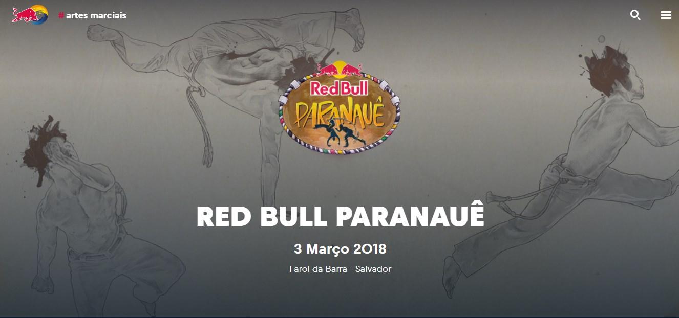 Portal Capoeira RED BULL PARANAUÊ 2018 Eventos - Agenda Capoeira