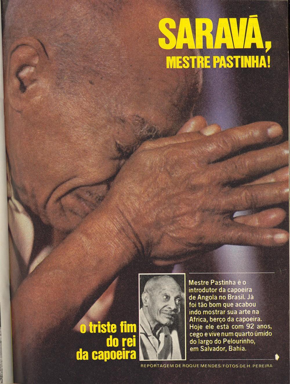 Mestre Pastinha – Revista Placar Dezembro 1979