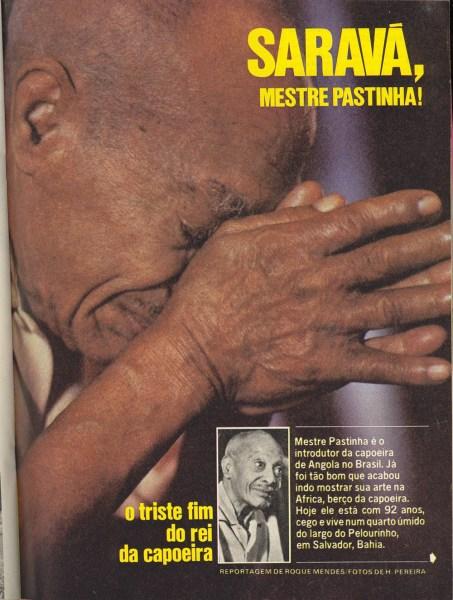 Mestre Pastinha - Revista Placar Dezembro 1979 Curiosidades Mestres Portal Capoeira