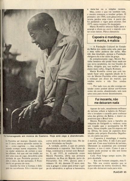 Mestre Pastinha na Revista Placar – dez 1979 (4)