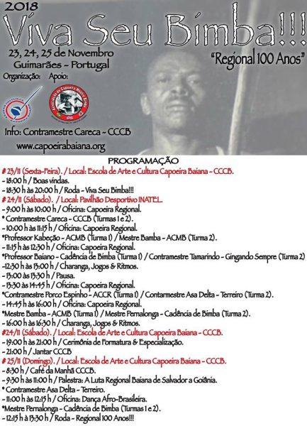Guimarães: VIVA SEU BIMBA!!! Eventos - Agenda Portal Capoeira 2
