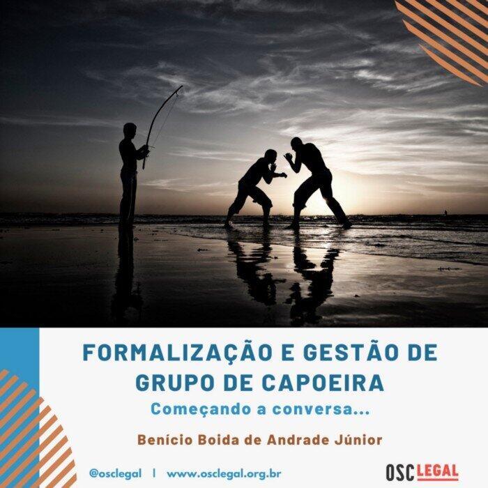Formalização e gestão de grupos de capoeira: começando a conversa