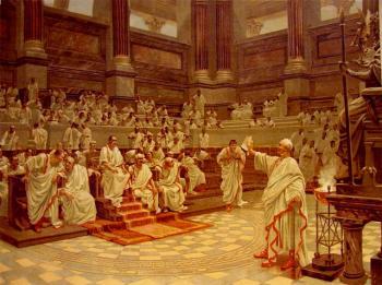 Cicerón denuncia ante el Senado la conjura de Catilina