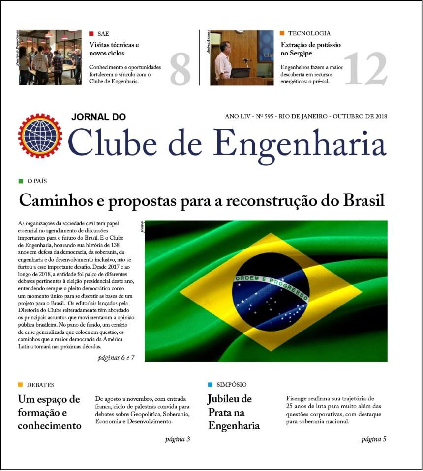 Jornal do Clube de Engenharia nº 595 – Outubro de 2018