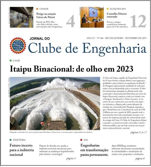 Jornal do Clube de Engenharia nº 606 – Setembro de 2019