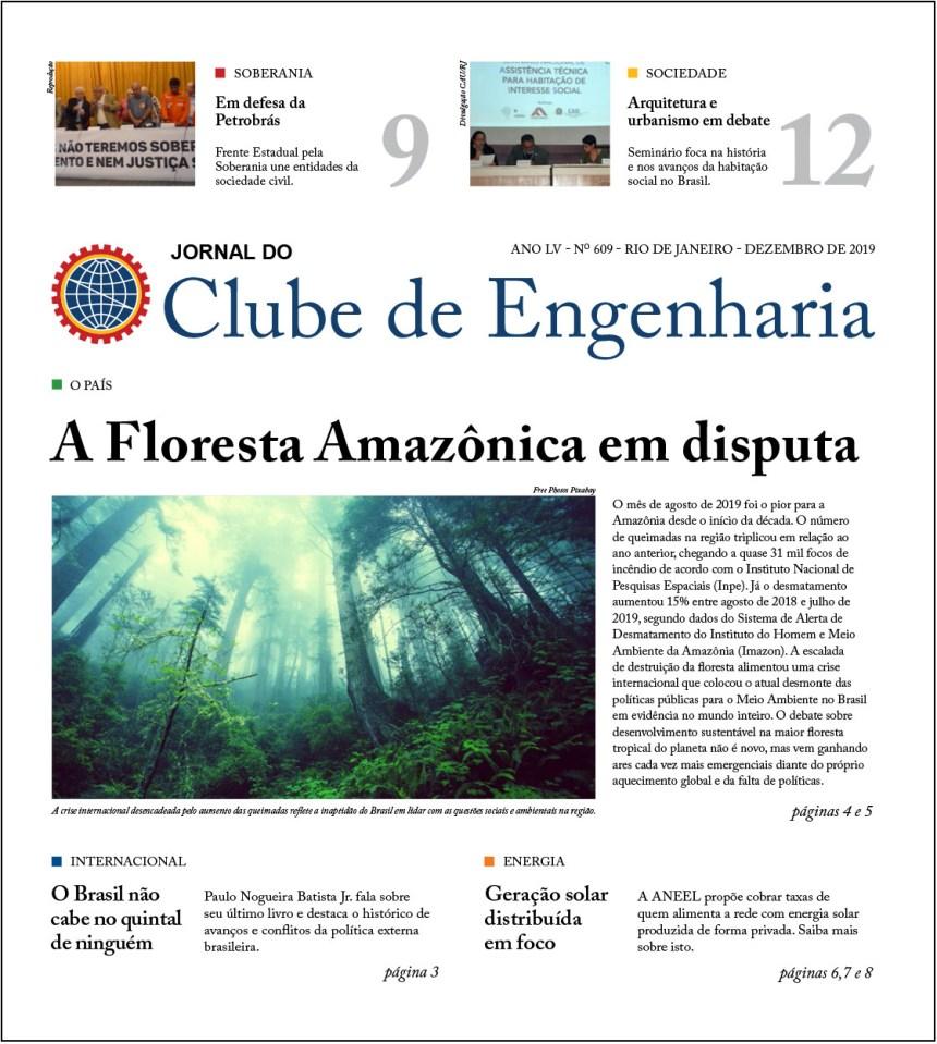 Jornal do Clube de Engenharia nº 609 – Dezembro de 2019