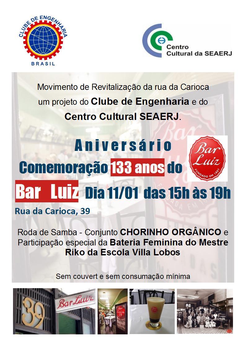 Aniversário de Comemoração dos 133 anos do Bar Luiz