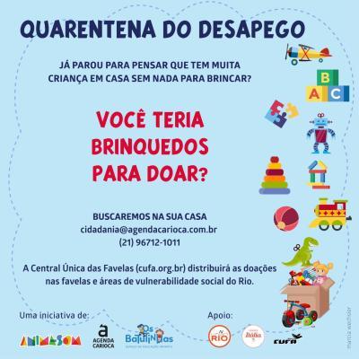 Quarentena do Desapego: campanha pede doações para crianças