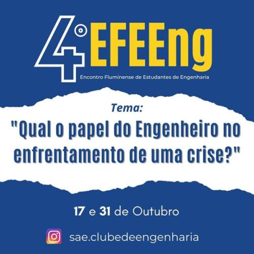 4º EFEEng começa neste sábado (17)