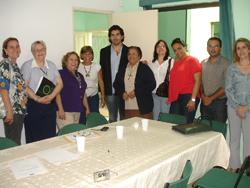 Conselheiros da Funcer durante a reunião para reconduzir Vera Maria à presidência da entidade
