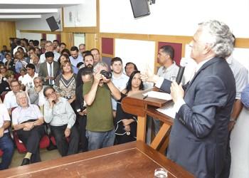 Ronaldo Caiado foi o terceiro e último candidato ao governo de Goiás ouvido pelos empresários anapolinos