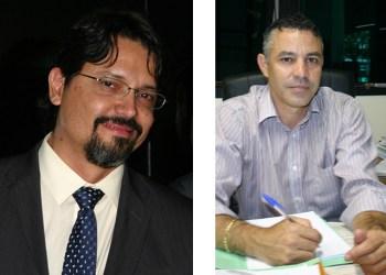 Adriano Baldy (esquerda) e Robson Torres (direita) dois dos novos secretários municipais