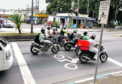 bolsões de motos