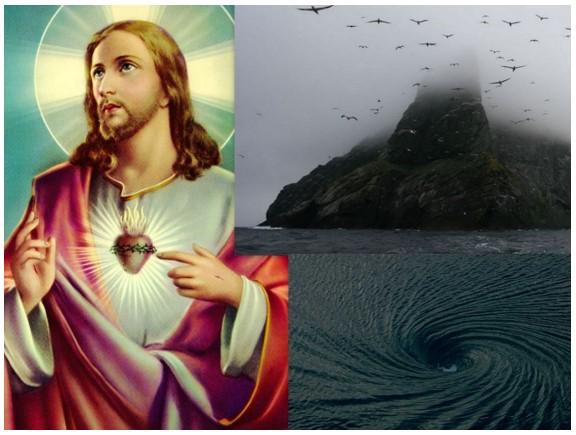 Relato Astral Resgate de Pessoas escravas em Ilha Negra redemoinho no Mar e Jesus