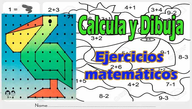 Ejercicios matemáticos divertidos – Calcula y Colorea