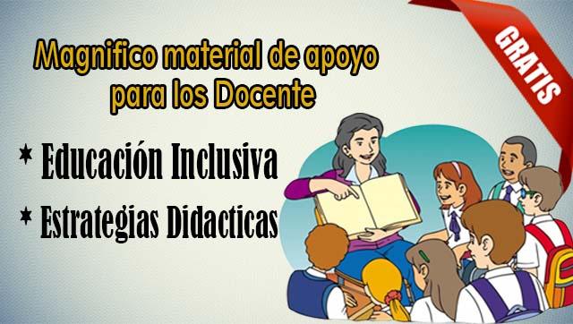 Excelente Material de Educación inclusiva y Estrategias
