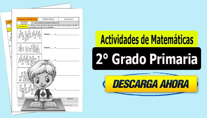 Actividades de Matemáticas para 2° Grado Primaria