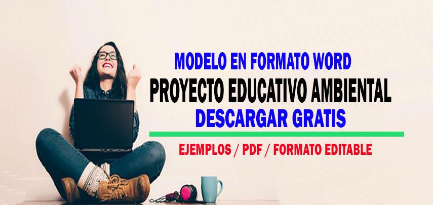 Modelo de Proyecto Educativo Editable ( Material Descargable )