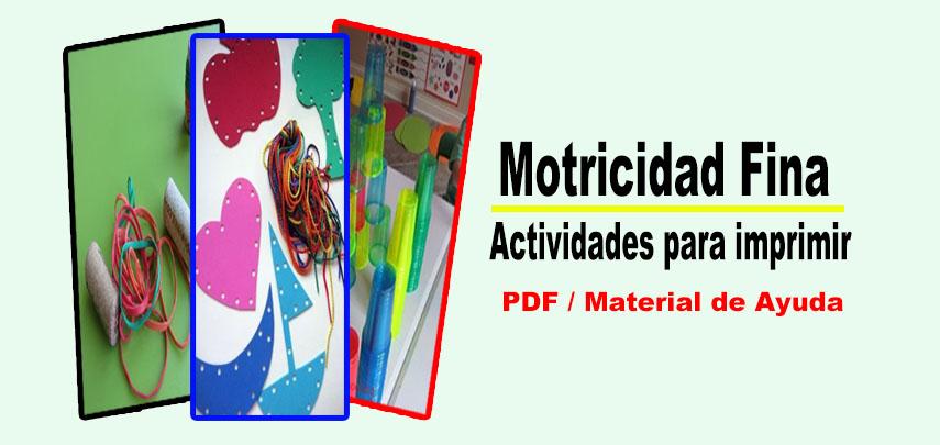Motricidad Fina: Actividades para imprimir - Portal de Educación