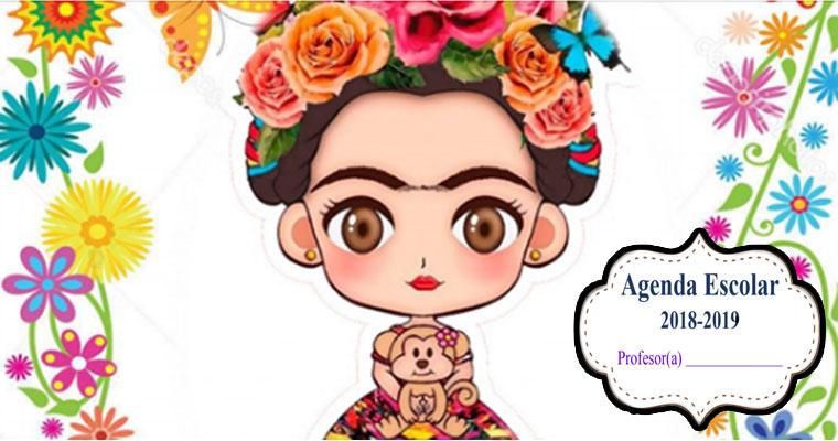 Agenda Escolar de Frida ( Material para Docente )