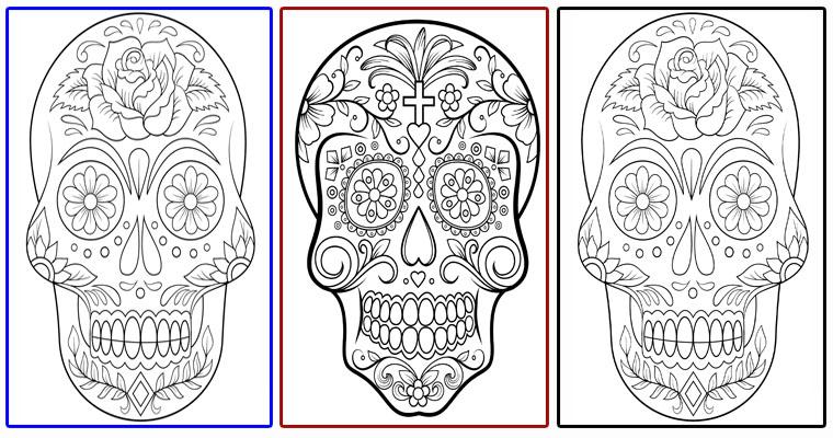 Dibujos De Calaveras De Día De Muertos Para Imprimir