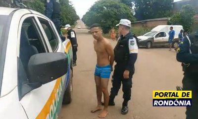 Três jovens são presos com arma após fugirem de viatura da Polícia Militar