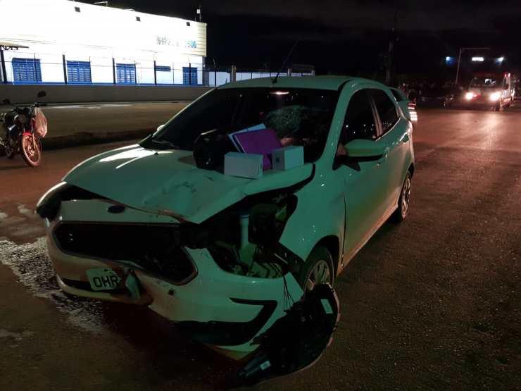 Motorista bêbado atropela motociclista idoso na BR-364 e tenta fugir