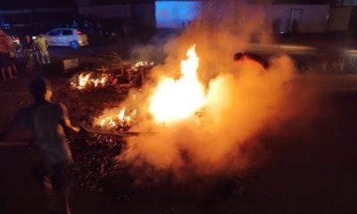 Manifestantes bloqueiam trecho da BR-364 em Porto Velho