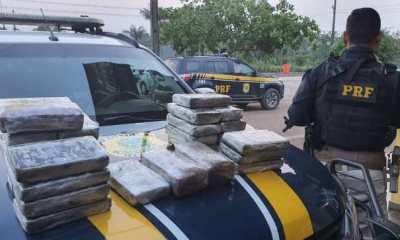 PRF intercepta carregamento de Drogas ilícitas na BR-364