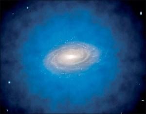 Halos de galáxias distantes - Ilustração