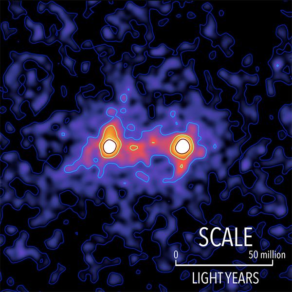 """Investigadores captam a primeira """"imagem"""" de uma teia de matéria escura a ligar galáxias"""