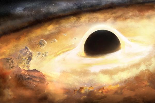 Buraco negro central - ilustração.
