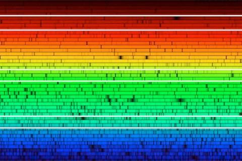 Um espectro do Sol