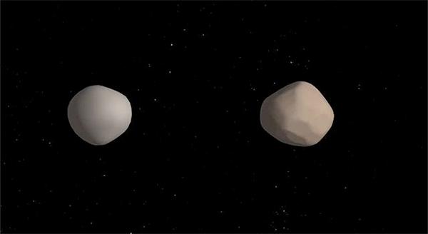 Observatórios unem-se para revelar raro asteroide duplo