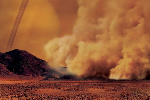Em Titã, levanta-se poeira