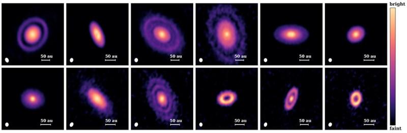 Discos protoplanetários.