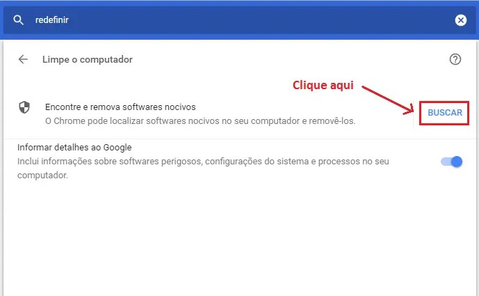 Limpeza do Chrome