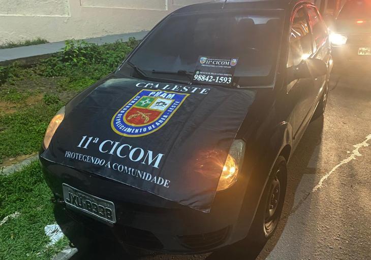 Polícia Militar recupera veículo com restrição de roubo na zona leste