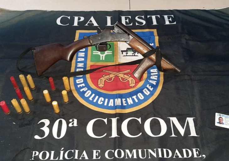 Polícia Militar detém homem com arma de fogo na zona Leste de Manaus