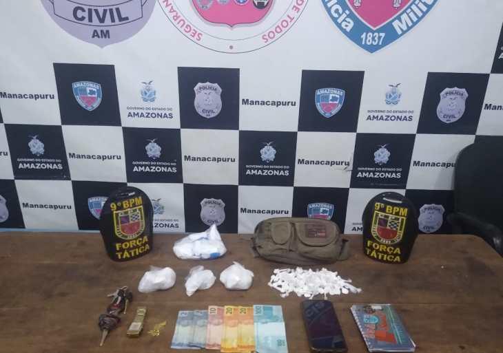 Policiais militares detêm homem por tráfico de entorpecentes em Manacapuru