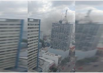 Incêndio em depósito no centro de Manaus