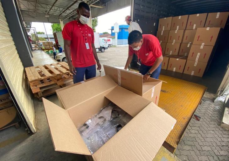 SES-AM recebe doações de 12 mil máscaras de proteção para profissionais da saúde
