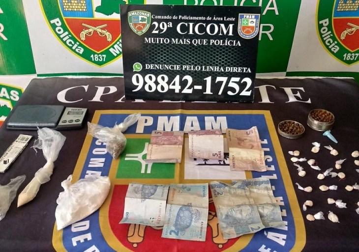 Policiais da 29ª Cicom detém dupla em posse de entorpecentes na zona leste