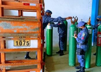 PM realiza transporte de cilindros e outros materiais hospitalares no combate à covid-19